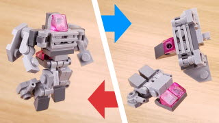 37 bricks simple micro combiner transformer robot - Space Rover