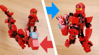Micro Asian Dragon type transformer robot - Red Dragon