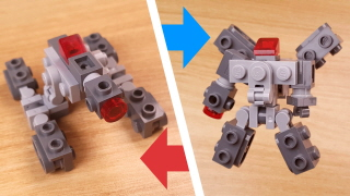 Micro manta tank type transformer robot - Mega shot (similar to Megatron)