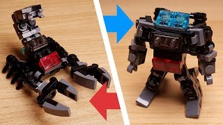 Scorpion Gray Jets - Micro sized Combiner Transformer Robot (similar with Scorponok)