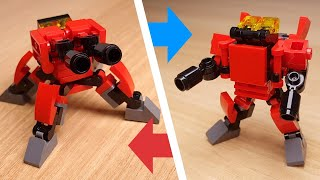Gun Turret Micro sized Transformer Robot  (similar with Overwatch Torbjörn Turret)