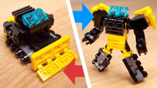 Bulldozer Transformer mech (similar with ‎Bonecrusher/Devastator)