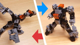 Dragon type LEGO transformer mech