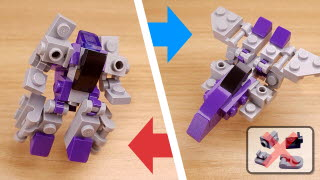 Easy to build fighter jet transformer - Violet Martin (using only 30 easy bricks)