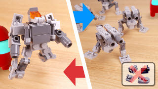 Easy to build transformer mecha - AT-ZT feat. Among Us (using only 39 easy bricks)