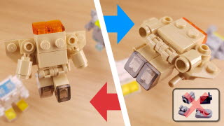 Easy to build transformer mecha - Rescue Boy 2(rescue boy alternative parts ver.) feat. Among Us