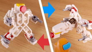 Micro fighter jet transformer robot - X jet (Similar to X-wing starfighter from Starwars)