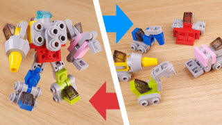 Micro 5 heavy vehicles combiner transformer robot - Megastator (Similar to Megazord and Devastator)