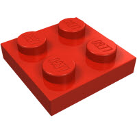 LEGO 3022 Red
