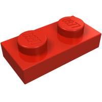 LEGO 3023 Red
