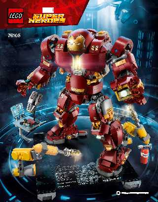 76105 The Hulkbuster: Ultron Edition LEGO information LEGO instructions LEGO video review
