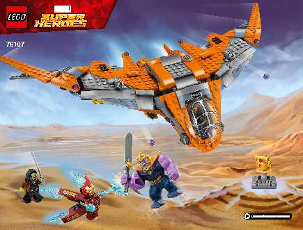76107 Thanos: Ultimate Battle LEGO information LEGO instructions LEGO video review
