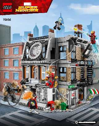 76108 Sanctum Santorum Showdown LEGO information LEGO instructions LEGO video review