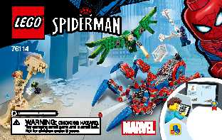 76114 Spider-Man's Spider Crawler LEGO information LEGO instructions LEGO video review