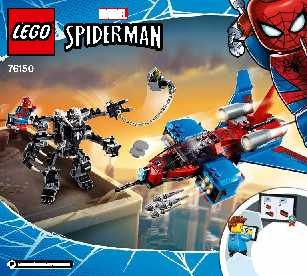 76150 Spiderjet vs. Venom Mech LEGO information LEGO instructions LEGO video review