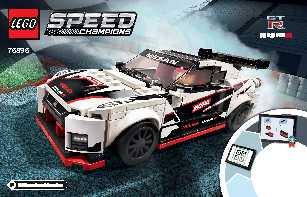 76896 Nissan GT-R NISMO LEGO information LEGO instructions LEGO video review