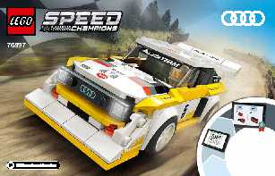 76897 1985 Audi Sport quattro S1 LEGO information LEGO instructions LEGO video review