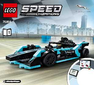 76898 Formula E Panasonic Jaguar Racing GEN2 car & Jaguar I-PACE eTROPHY LEGO information LEGO instructions LEGO video review